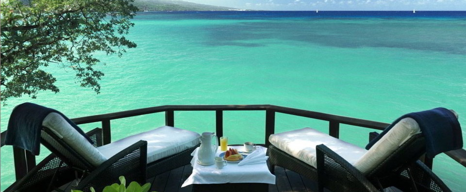 Jamaica Inn, Jamaica - Breakfast On The Deck Of Cottage 3